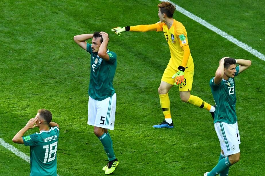 L'Allemagne a subi une défaite de 2-0 contre... (Photo Dylan Martinez, Reuters)
