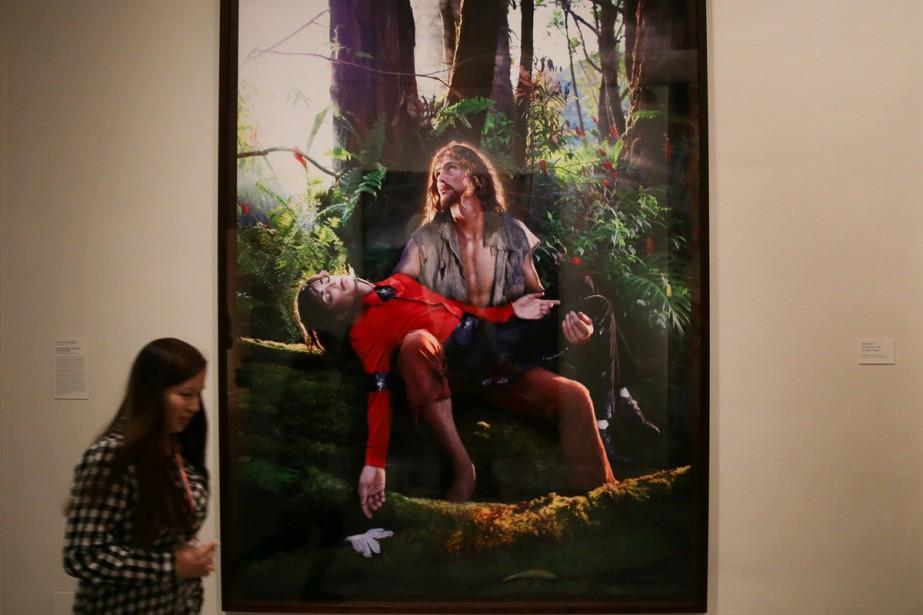 Dans la salle appelée «American Jesus», le visiteur... (Photo AFP)
