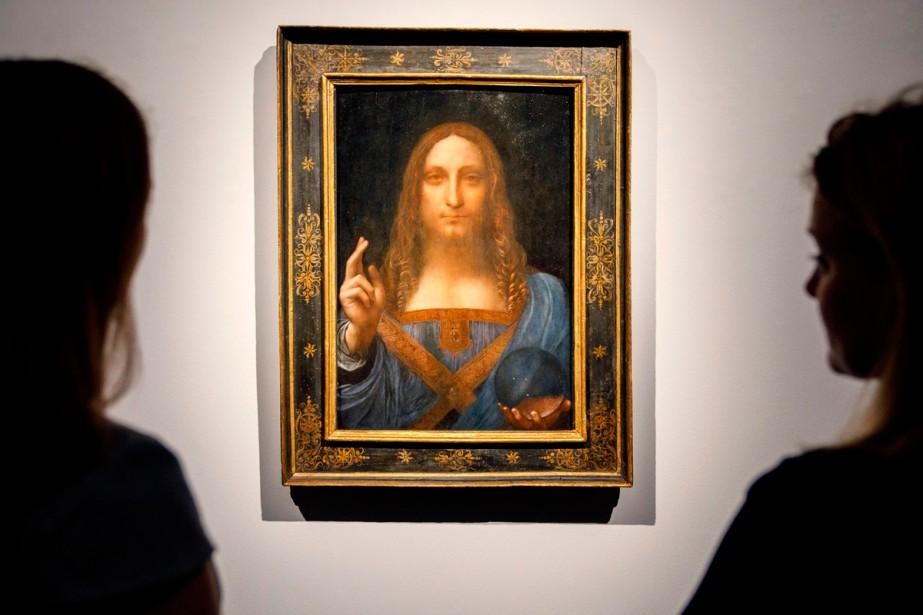 Le Salvator Mundi de Léonard de Vinci... (Photo AFP)