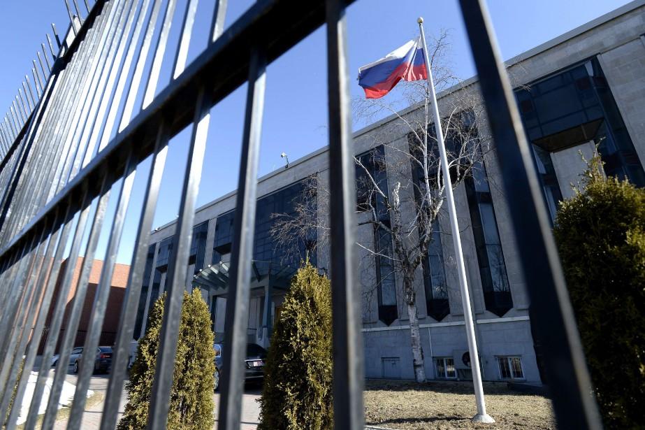 L'ambassade de Russie au Canada, à Ottawa.... (ARCHIVES PC)