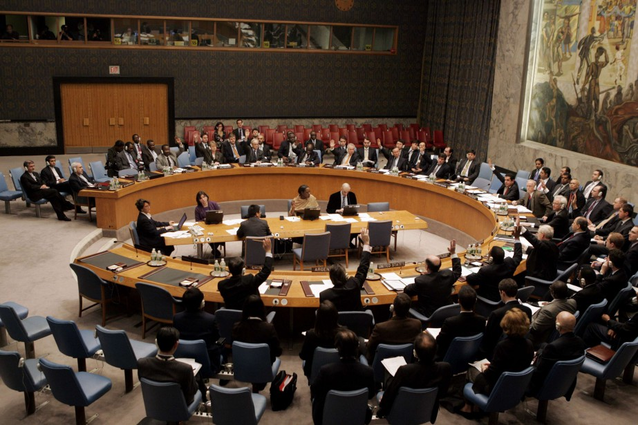 Le Conseil de sécurité s'était réuni pour la... (Photo ONU, par l'entremise de REUTERS)