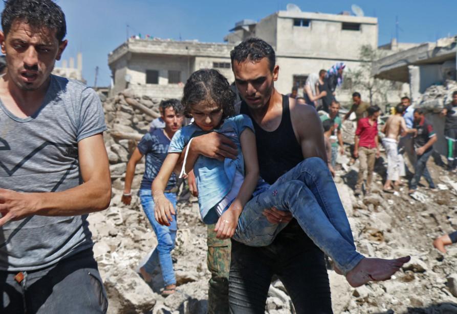Les 21 000 violations des droits de l'enfant... (Photo Ahmad al-MSALAM, AFP)