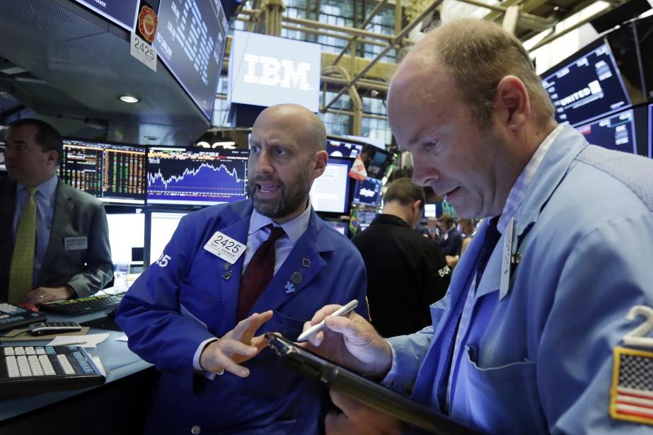 Wall Street a terminé en... (Photo Richard Drew, archives Associated Press)