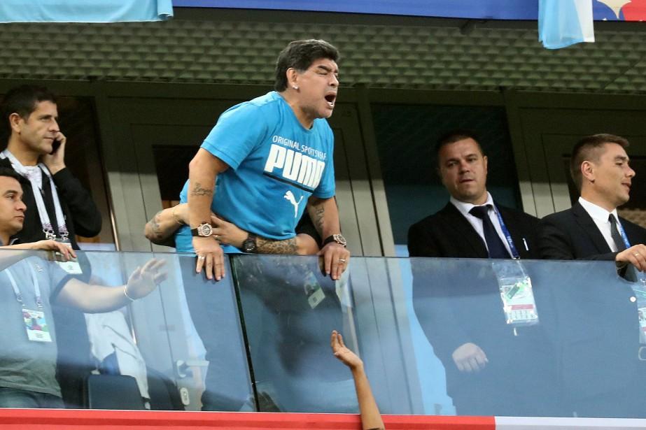Diego Maradona.... (Photo Sergio Perez, archives REUTERS)