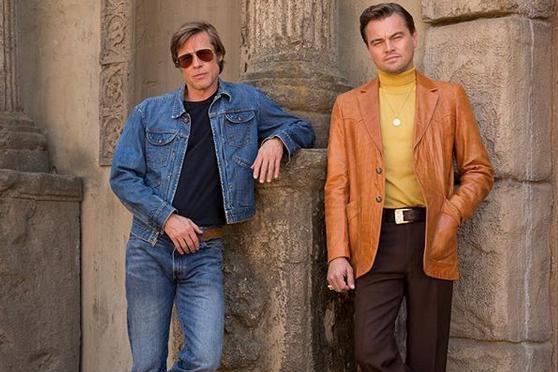 Brad Pitt et Leonardo DiCaprio dans une scène... (Photo tirée d'Instagram)