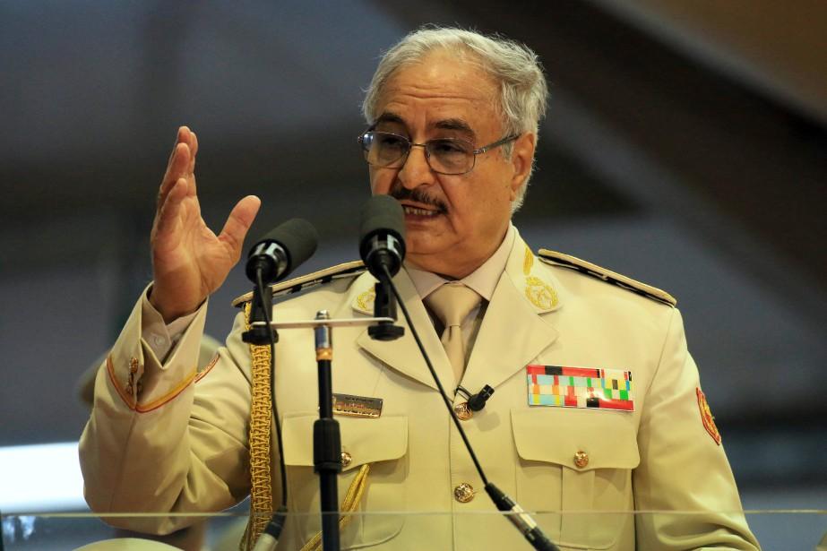 L'homme fort de l'est libyen, Khalifa Hafatar.... (Photo Abdullah Doma, Archives AFP)