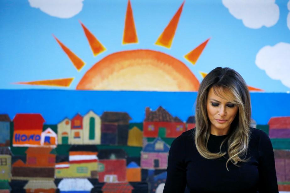 La Première dame américaine a visité un centre... (Phot Leah Millis, Reuters)