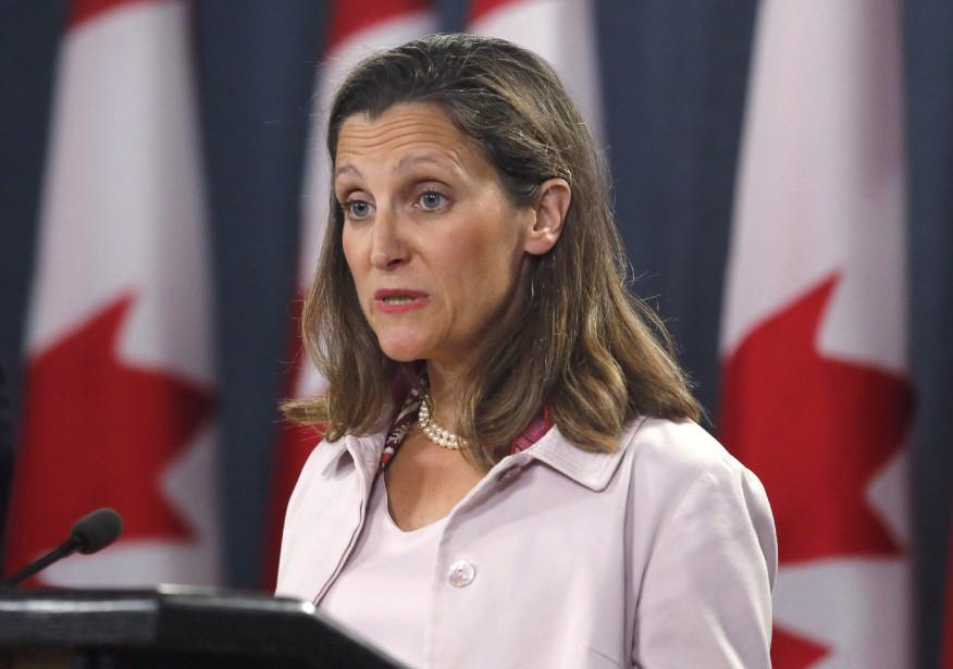 La ministre des Affaires étrangères,Chrystia Freeland, dévoilera la... (photo Patrick Doyle, archives THE CANADIAN PRESS)