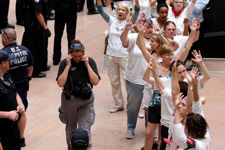 Les manifestantes ont été accusées de manifestation illégale,... (PHOTO REUTERS)