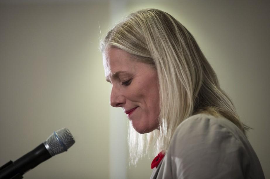 La ministre fédérale de l'Environnement, Catherine McKenna... (PHOTO ARCHIVES LA PRESSE CANADIENNE)