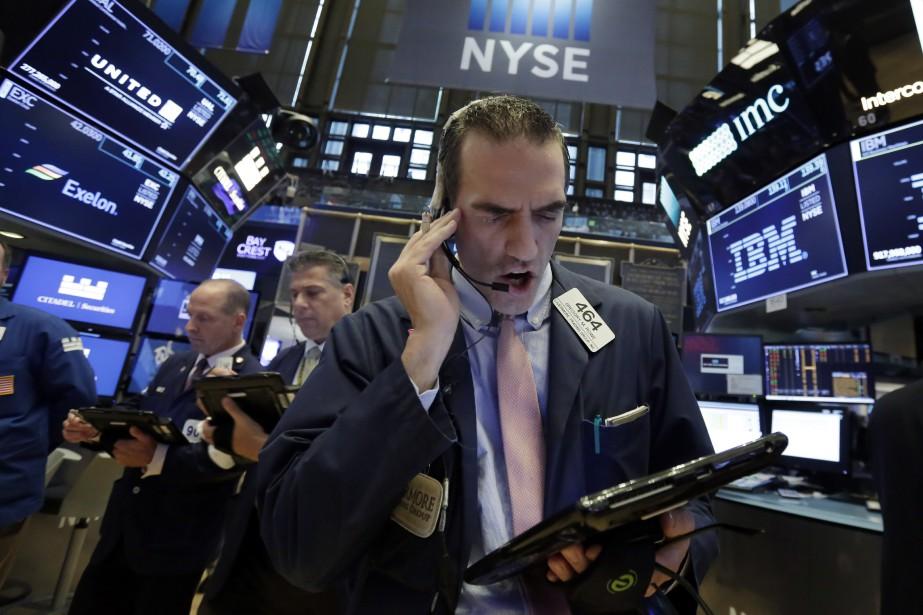 Vers 9h55, son indice vedette, le Dow Jones... (Photo Richard Drew, Associated Press)