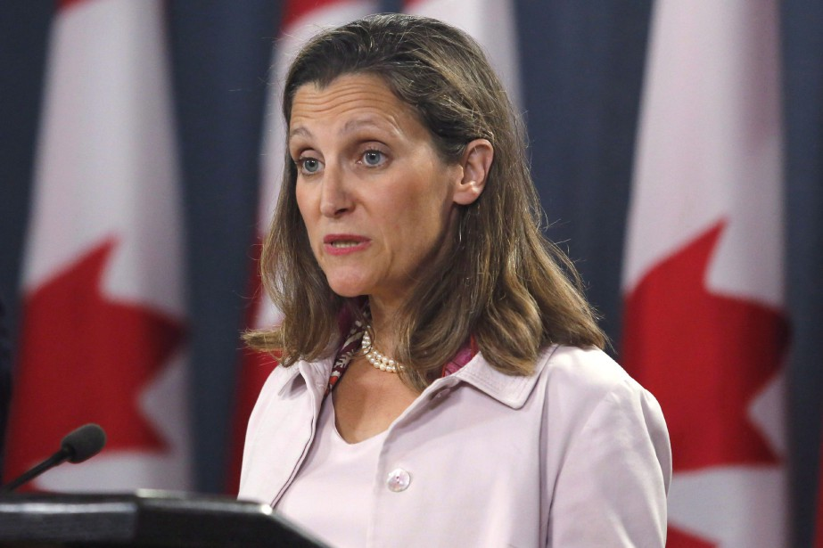 La ministre des Affaires étrangères, Chrystia Freeland, a... (Photo Patrick Doyle, La Presse canadienne)