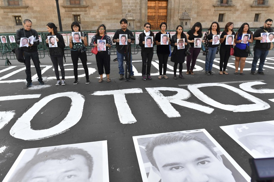 L'assassinat du journaliste José Guadalupe Chanporte à six... (PHOTO Yuri CORTEZ, archives Agence France-Presse)