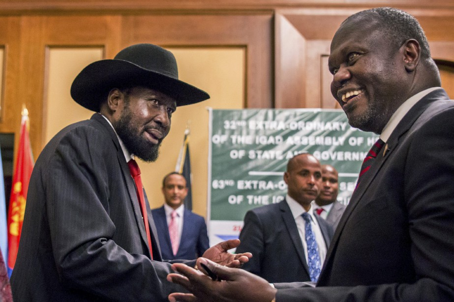 Le président du Soudan du Sud, Salva Kiir,... (Photo Mulugeta Ayene, archives Agence France-Presse)