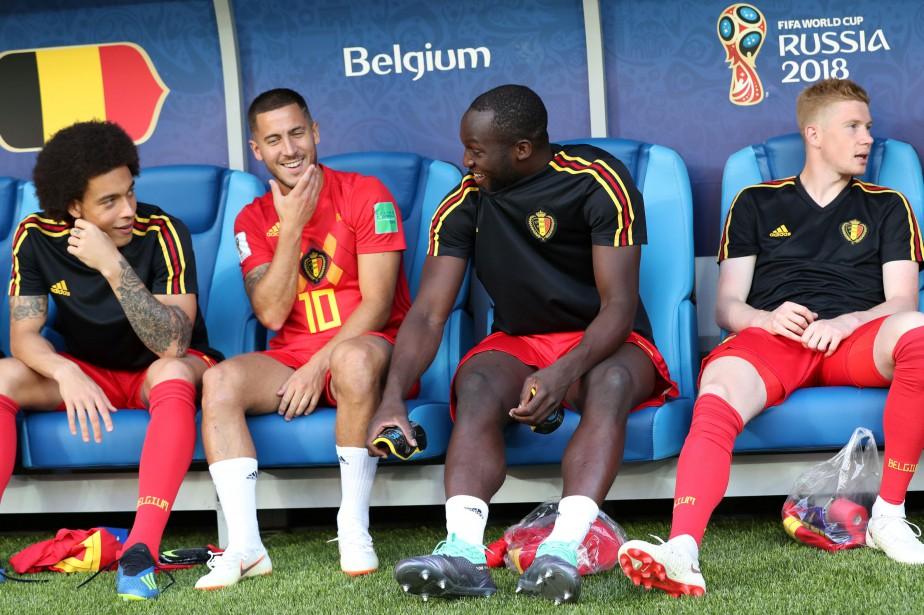 Axel Witsel, Eden Hazard, Romelu Lukaku et Kevin... (archives REUTERS)