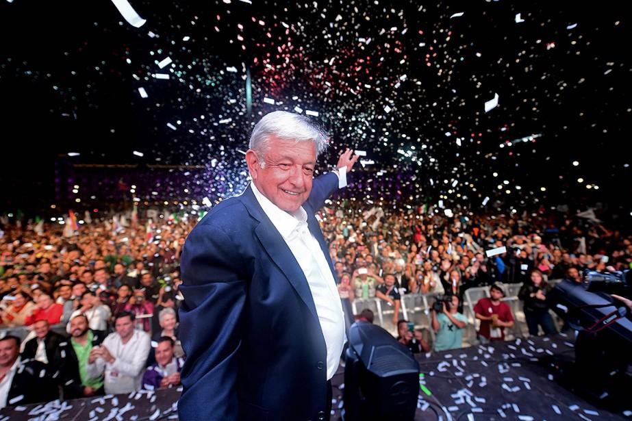 Le nouveau président élu au Mexique,Andrés Manuel Lopez... (PEDRO PARDO, AFP)