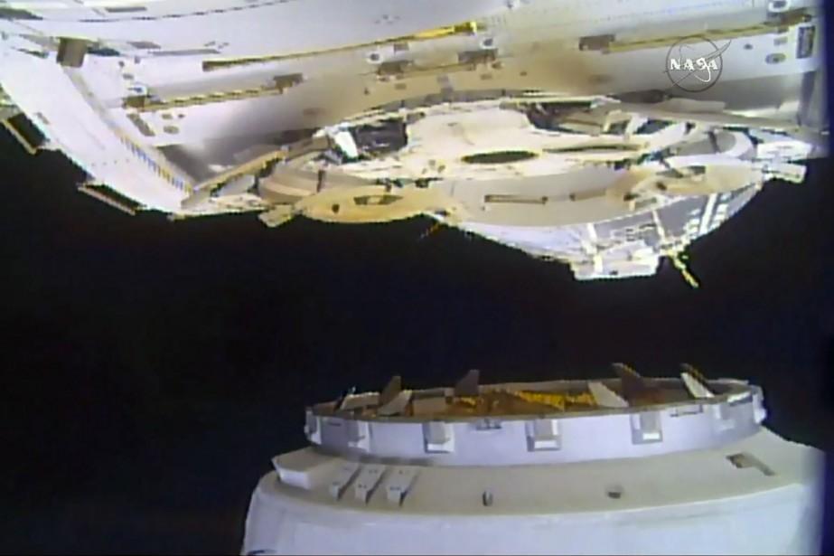La Station spatiale internationale (SSI) a reçu lundi... (Photo AFP)