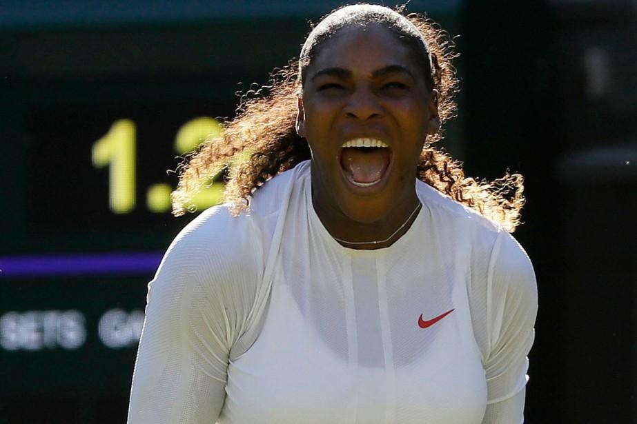 Serena Williams a réussi son retour à Wimbledon... (Photo AP)