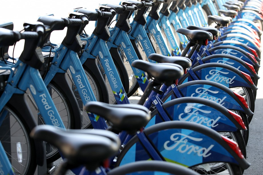 Motivate gère des flottes de vélos en libre-service... (AFP PHOTO GETTY IMAGES NORTH AMERICA, JUSTIN SULLIVAN, par l'Agence France-Presse)