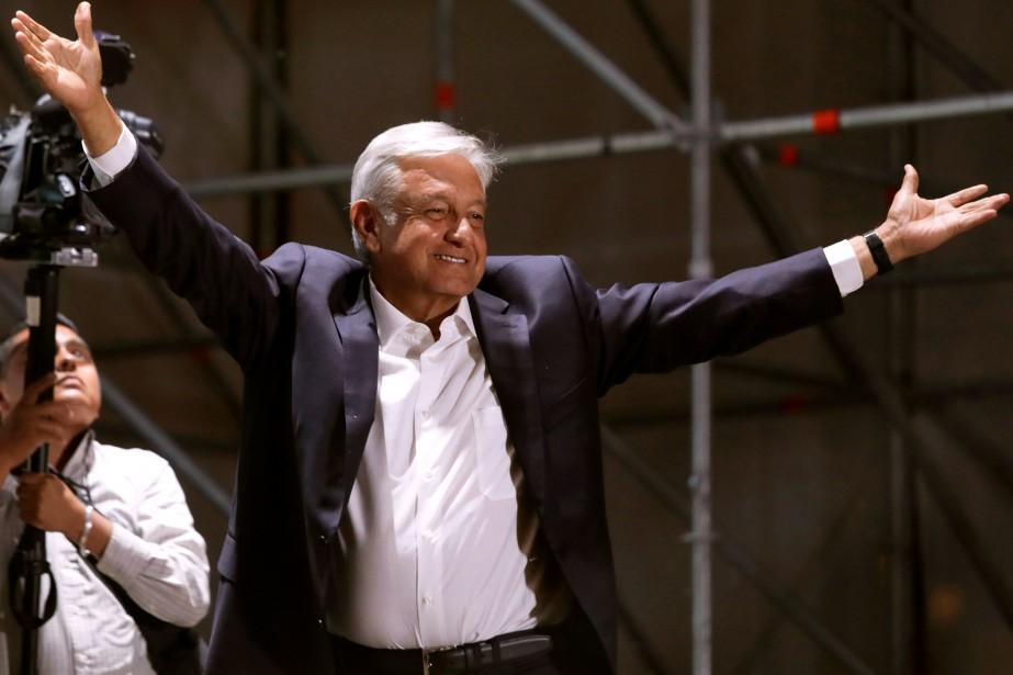Le nouveau président du Mexique, Andres Manuel LopezObrador.... (photo Alexandre Meneghini, REUTERS)