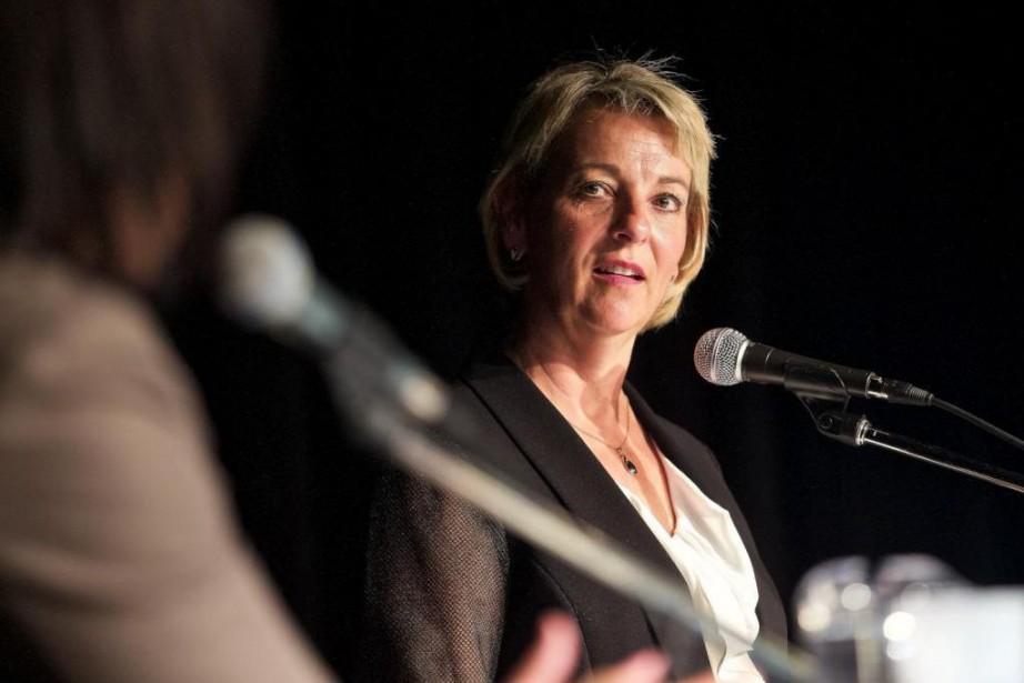 «[La mairesse de Longueuil] Sylvie Parent [...] m'apparaît... (Photo André Pichette, Archives La Presse)
