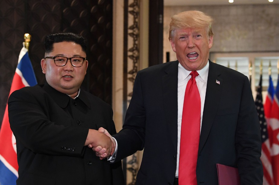 Donald Trump et Kim Jong-un à Singapour, le... (AFP)