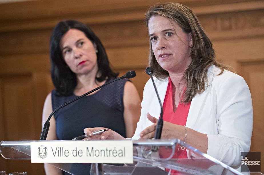 La mairesse de Montréal, Valérie Plante, etla DreMylène... (Photo Patrick Sanfacon, La Presse)