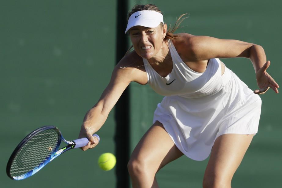 Maria Sharapova a été éliminée dès le premier... (Photo Kirsty Wigglesworth, Associated Press)