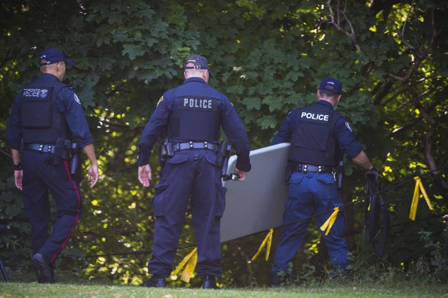 La porte-parole de la police Meaghan Gray a... (Photo Tijana Martin, La Presse canadienne)