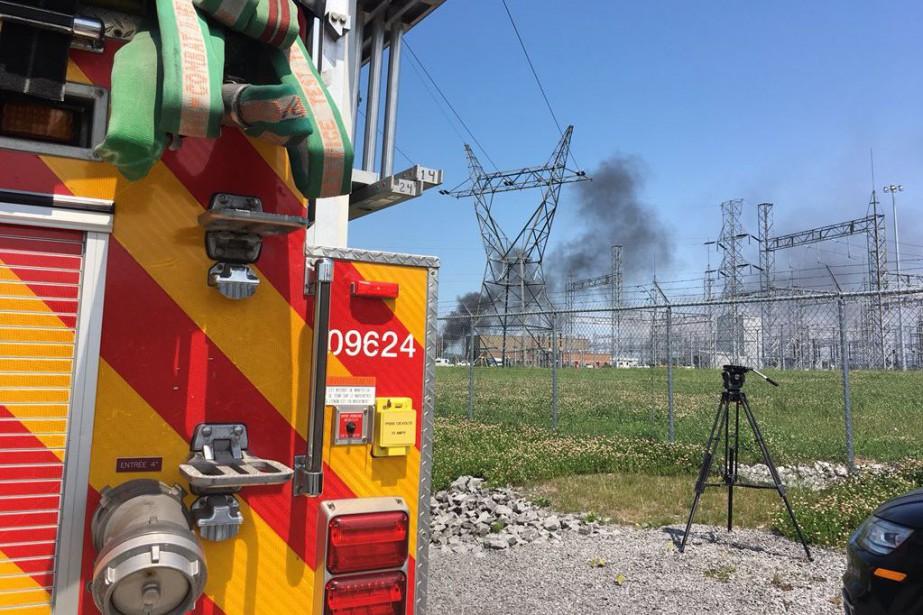 L'incendie s'est déclaré dans un poste de transformation,... (Photo @SPCIQ, tirée de Twitter)