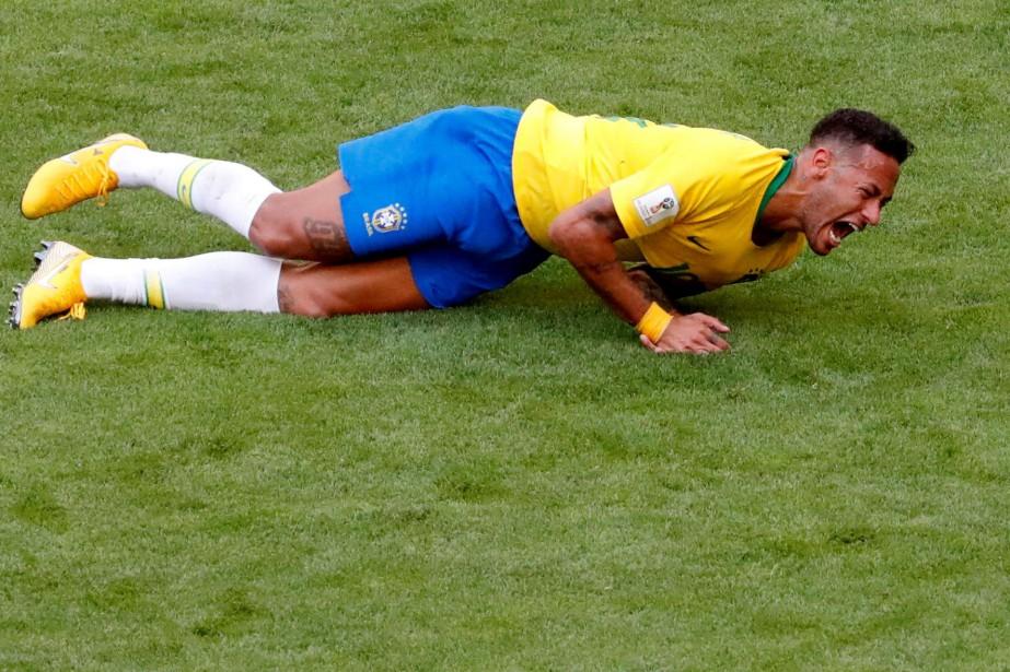 Le joueur vedette brésilien Neymar a été fortement... (Photo David Gray, Reuters)