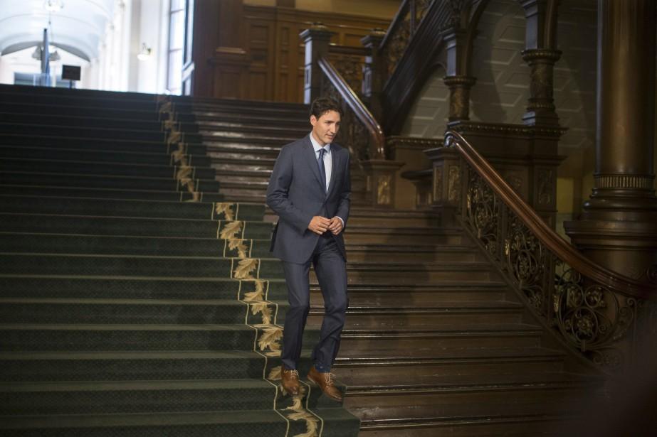 Le premier ministre du Canada, Justin Trudeau... (Photo Chris Young, LA PRESSE CANADIENNE)