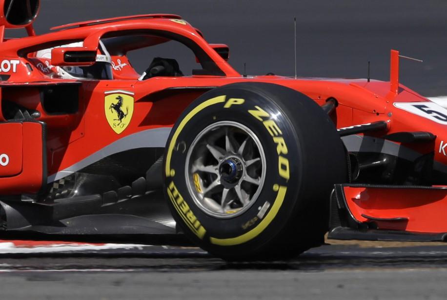L'Allemand Sebastian Vettel, de Ferrari, a inscrit le... (photo AP)