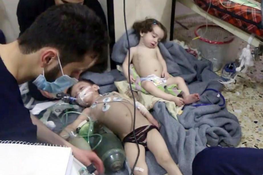 L'attaque sur la Douma, imputée aux forces gouvernementales... (Photo archives Associated Press)