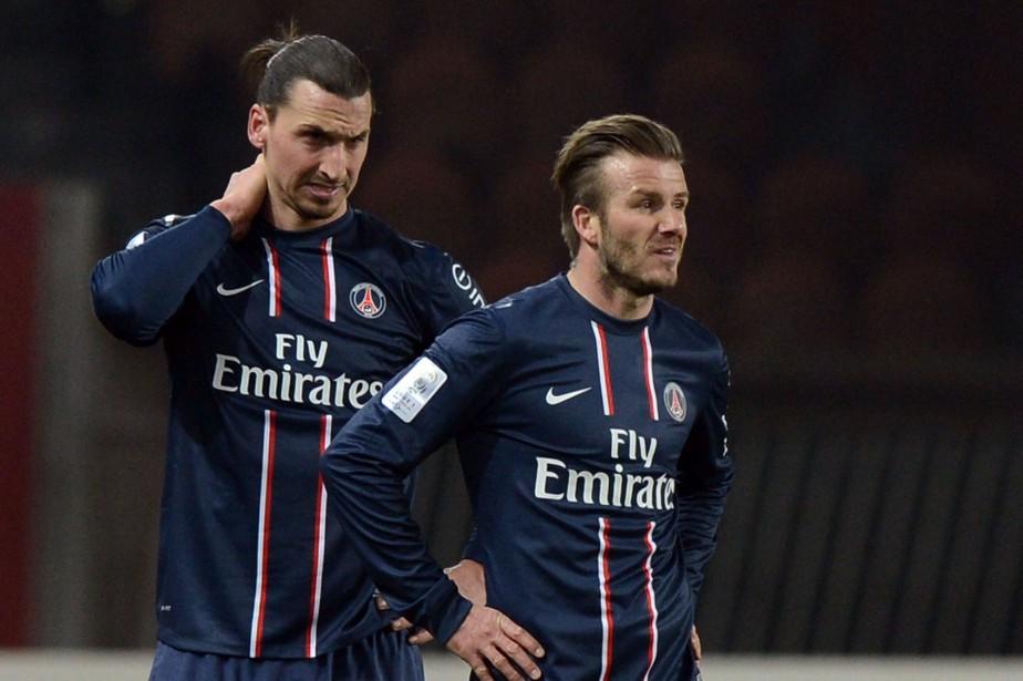 Zlatan Ibrahimovic et David Beckham, à l'époque où... (archives AFP)