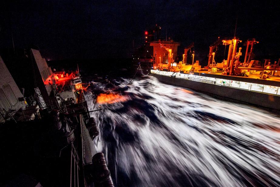 L'USS Mustin... (REUTERS)