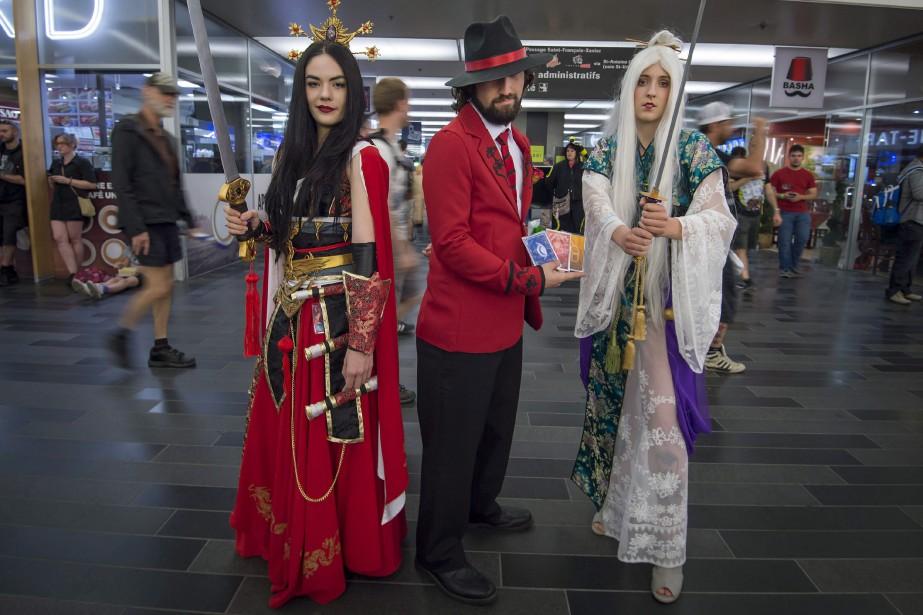 Des participants à l'édition 2017 duComiccon de Montréal.... (Photo archives La Presse canadienne)