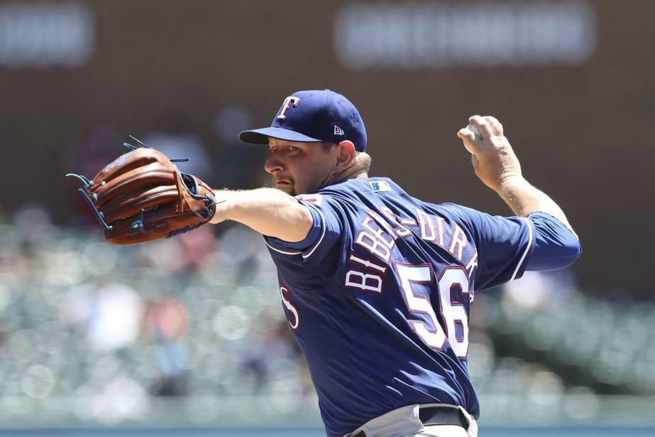 Austin Bibens-Dirkx,lanceur des Rangers duTexas... (Photo Carlos Osorio, Associated Press)