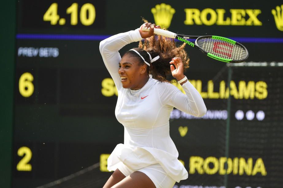 Serena Williams a facilement disposé dela Russe Evgeniya... (PHOTO REUTERS)