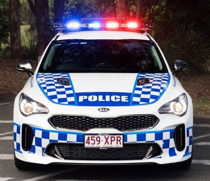 La police de l'État du Queensland roulera en Kia Stinger GT. (Photo Queensland Road Policing Command)