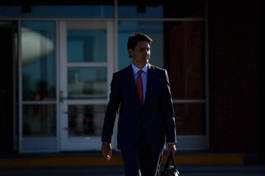 Le premier ministre du Canada JustinTrudeau, hier, à... (PHOTO PC)