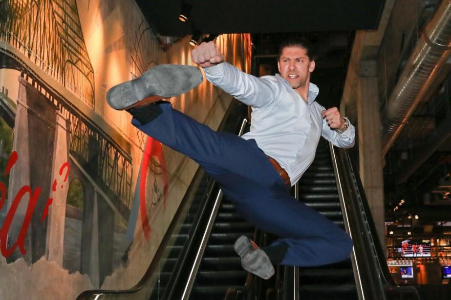 Alain Moussis'entraîne quotidiennement afin de maintenir son poids... (Photo Robert Skinner, La Presse)