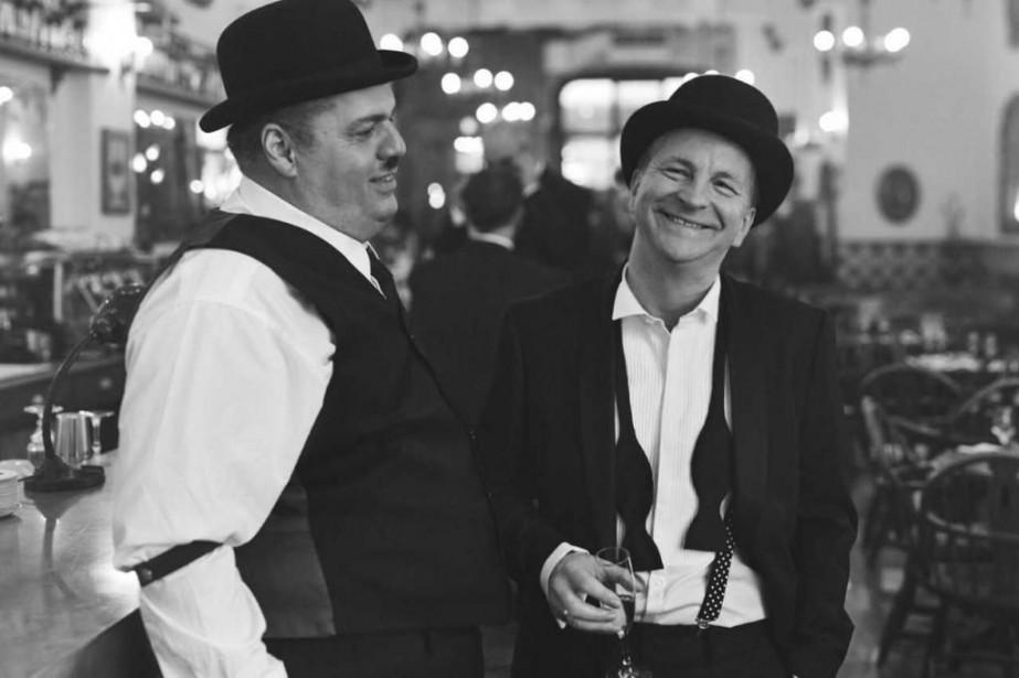 LouisChampagne et AndréRobitaille dans Laurel et Hardy... (Photo Shayne Laverdière, fournie par la production)