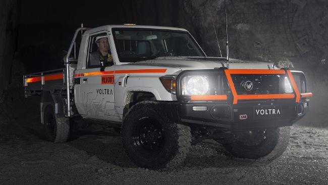 Le Voltra e-Cruiser est testé sous terre à la mine... | 2018-07-10 00:00:00.000