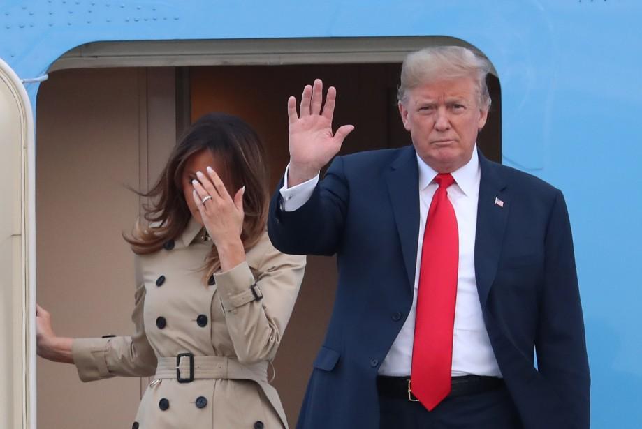 Donald Trump est accompagné de sa femme Melania... (AFP)
