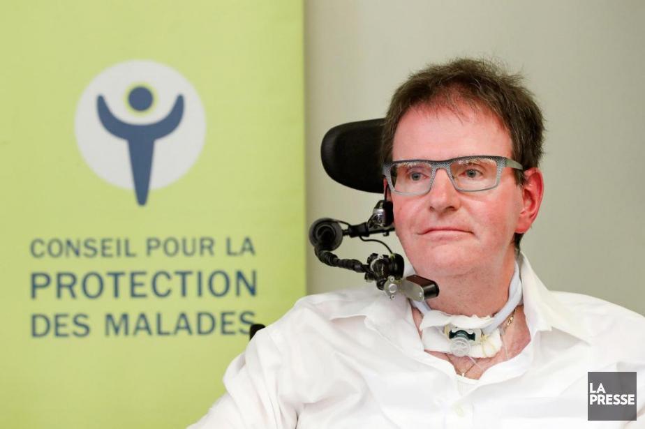 Daniel Pilote est presque entièrement paralysé, à l'exception... (PHOTO ROBERT SKINNER, LA PRESSE)
