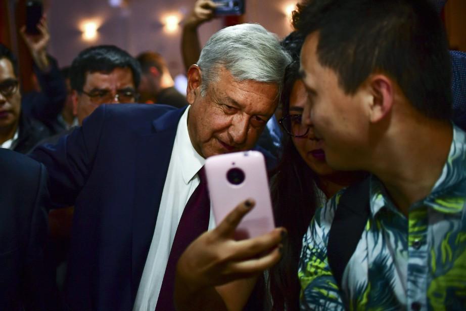 Andres Manuel Lopez Obrador,élu sur un programme anticorruption... (Photo Ronaldo Schemidt, AFP)