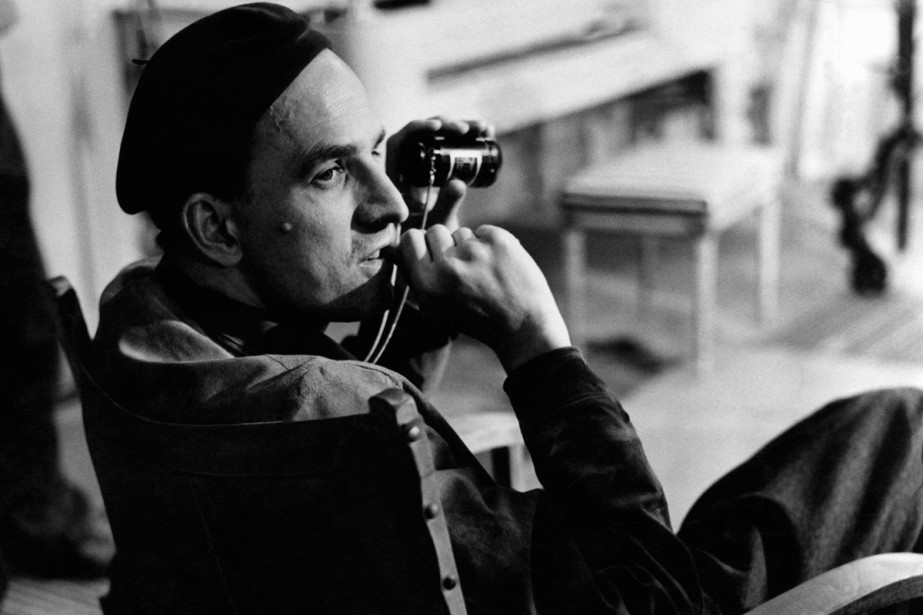 Ingmar Bergman sur le tournage d'un film au... (Photo archives AFP)