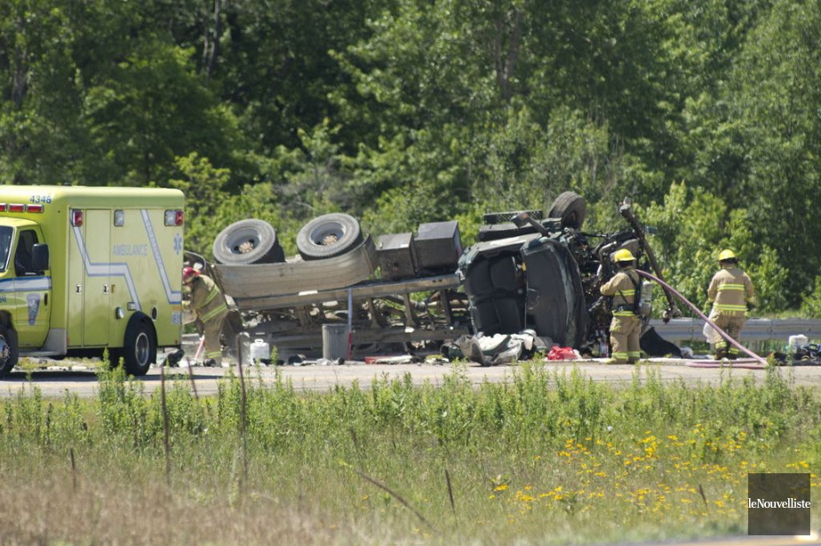 Un accident survenu vers 11h20 sur... (Photo Sylvain Mayer, Le Nouvelliste)