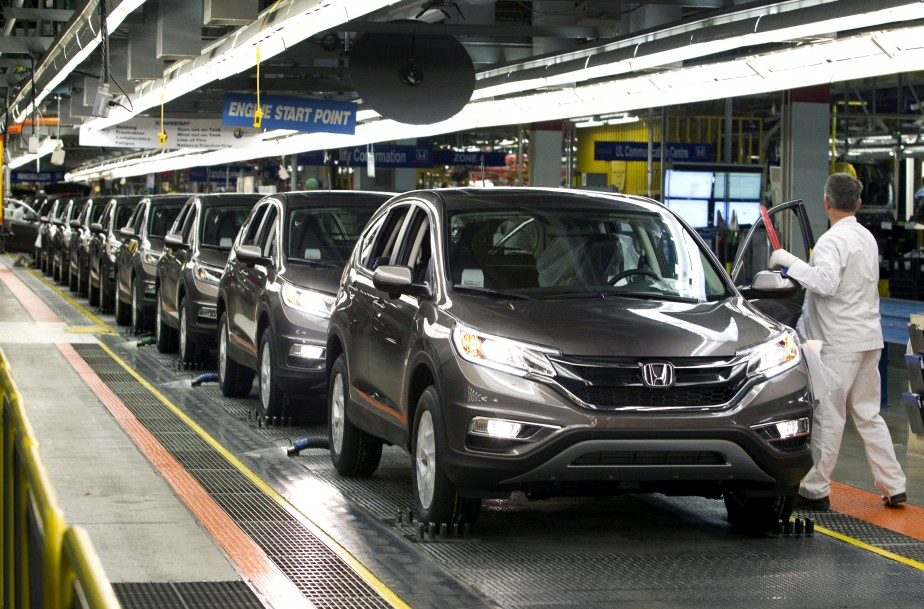 Le Honda CR-V est assemblé à Alliston, en Ontario. (REUTERS)